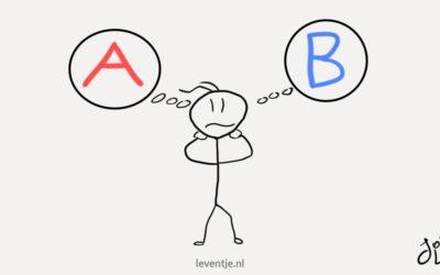 Hoe je stopt met twijfelen en direct een keuze maakt