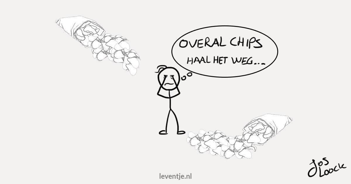 Uitstelgedrag - haal verleidingen zoals chips weg